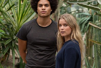Image of organic cotton t-shirt and jumper