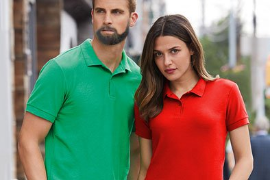 Image of polo shirts suitable for embroidery